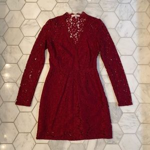 WAYF Red Lace Dress